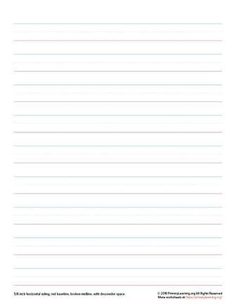 handwriting paper for 1st grade