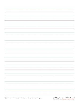 handwriting paper for 2nd grade