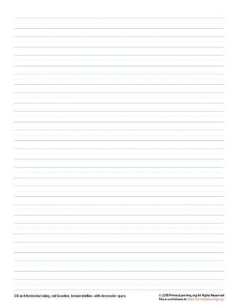 handwriting paper for 3rd grade