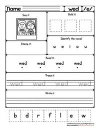 wed worksheet