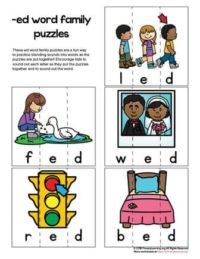 ed word family puzzle
