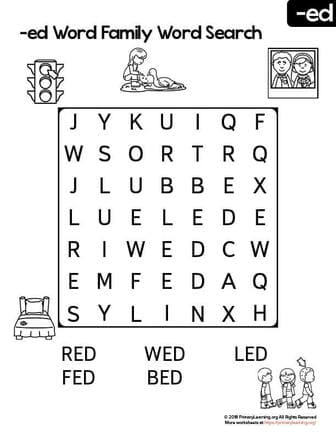 ed word family word search