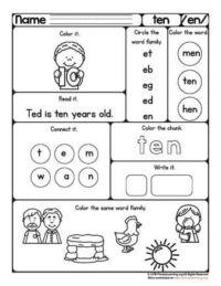 short e vowel worksheet