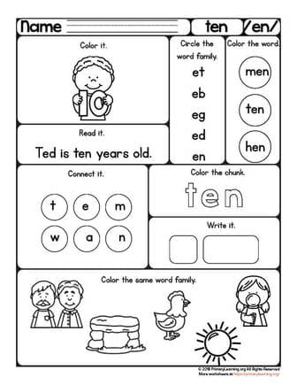 short e vowel worksheet