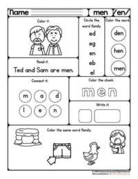 en family word worksheet