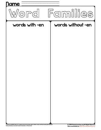 sorting en words