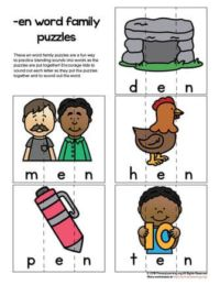 en word family puzzles