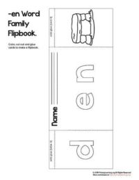 en word family flip book