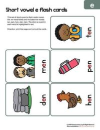 en word family flashcards