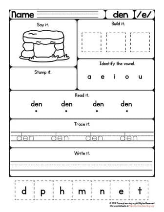 den worksheet