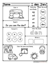 en family worksheet