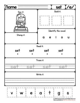 set worksheet