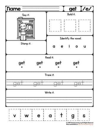 Get Worksheet Short E Sound Free Worksheets Primarylearning