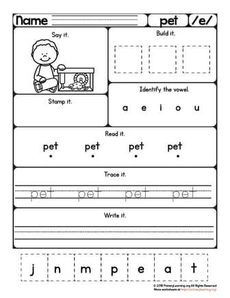 pet worksheet
