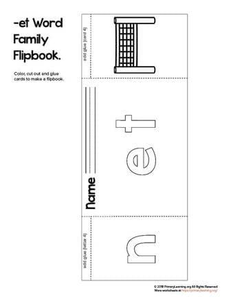et word family flip book
