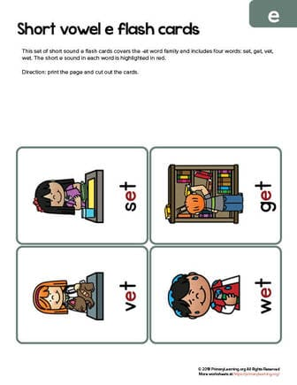 et word family flashcards