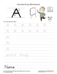 letter a printables