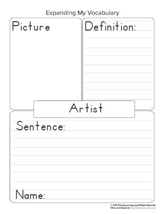 vocabulary art