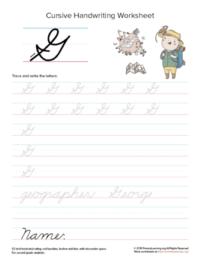 cursive uppercase g