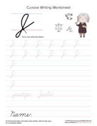 cursive uppercase j