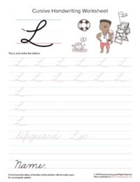 cursive uppercase l
