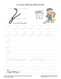 cursive uppercase z