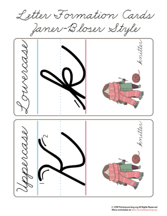 how to make a cursive k