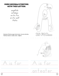 letter a printable book