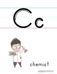 printable letter c poster