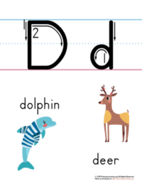 letter d printable