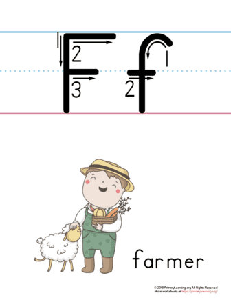 printable letter f poster