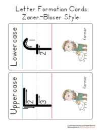 letter f formation cards