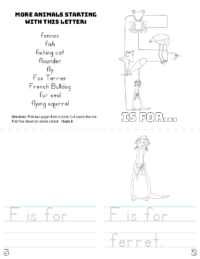 letter f printable book