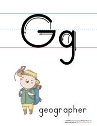 printable letter g poster