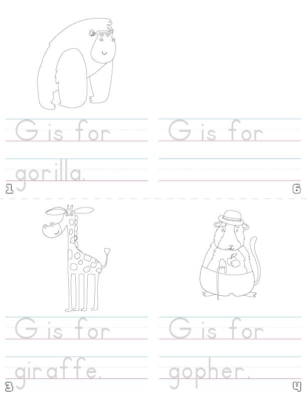 letter g printable book