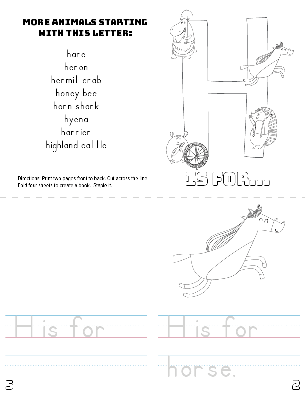 picture regarding Letter H Printable referred to as Letter H Printable Guide - Pets