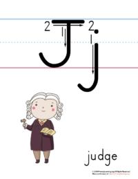 printable letter j poster