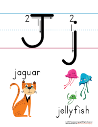 letter j printable