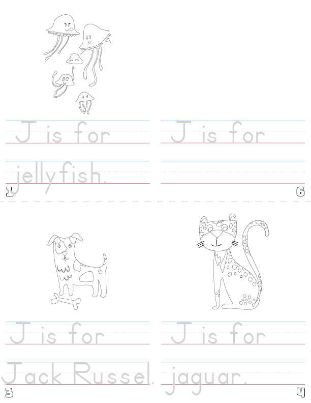 letter j printable book