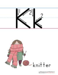 printable letter k poster