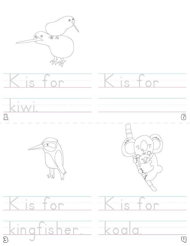 letter k printable book