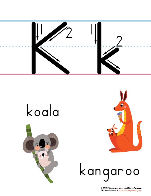 letter k printable