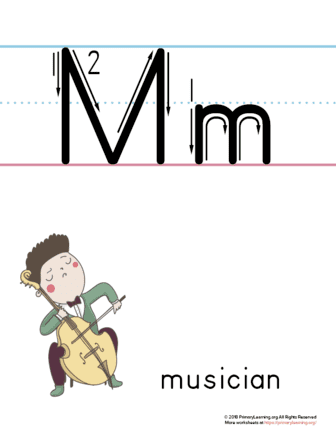 printable letter m poster