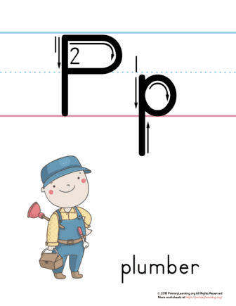 printable letter p poster