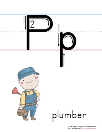 printable letter p poster