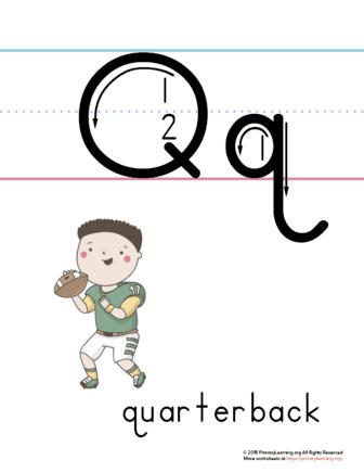 printable letter q poster