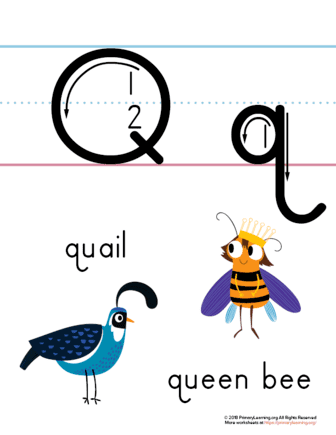 letter q printable