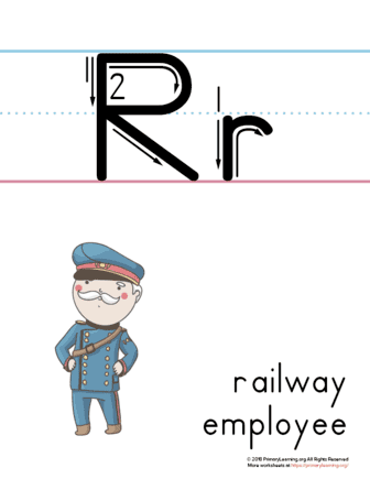 printable letter r poster