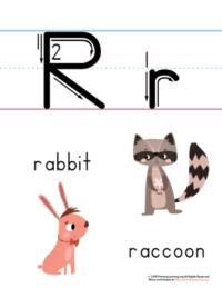 letter r printable