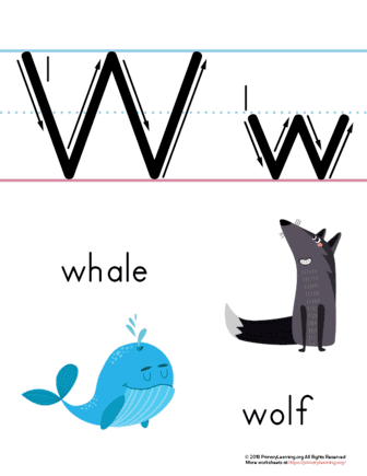 letter w printable